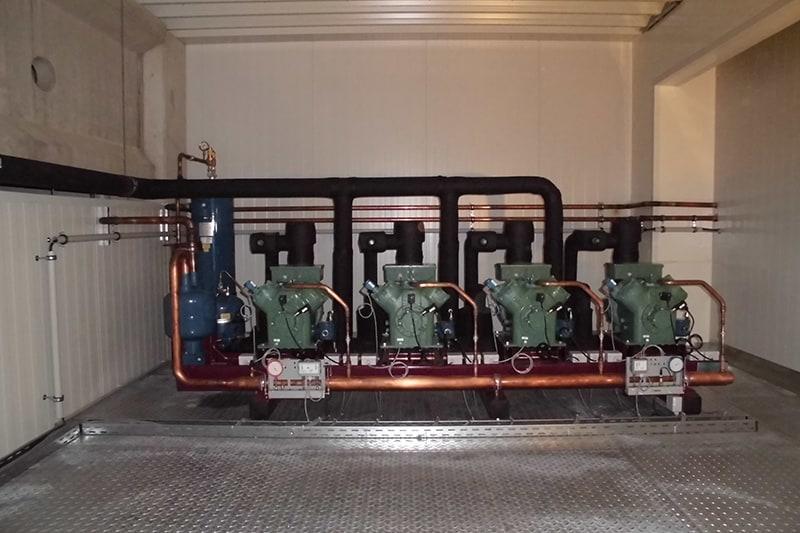 Kühlanlage in Funktion
